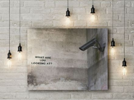 Banksy: CCTV. Fine Art Canvas.